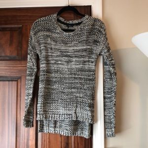 Lord & Taylor Long Black and White Sweater Size S